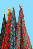 Tartan flags Royalty Free Stock Images