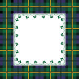 Tartan frame. With clover. Vector illustration Royalty Free Stock Images