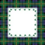 Tartan frame Royalty Free Stock Images