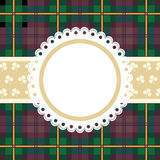 Tartan frame. For photo or message. Vector illustration Royalty Free Stock Photography