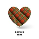 Tartan heart Royalty Free Stock Photo