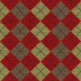 Tartan knitwork Muster Lizenzfreies Stockfoto