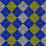 Tartan knitwork Muster Stockfoto