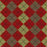 Tartan knitwork pattern Royalty Free Stock Photo