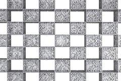 Tartan maze cubes Stock Photography