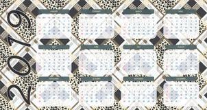 tartan med leopardstil EPS10 royaltyfri illustrationer