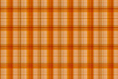 Tartan Orange pattern - Plaid Clothing Table Stock Image