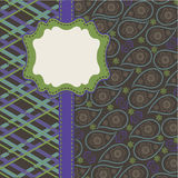 Tartan and Paisley in Mens Design template,artwork Stock Images