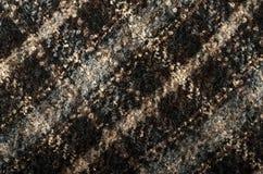 Tartan pattern. Brown plaid print as background. Stock Photo