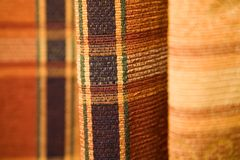Tartan pattern fabric Stock Images