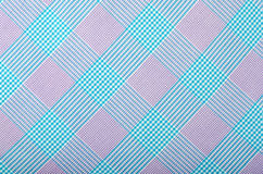 Tartan pattern.Purple and turquoise blue plaid print as background. Stock Photo