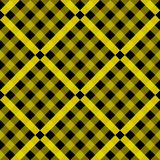 Tartan pattern. Scottish cage. Scottish yellow checkered background. Scottish plaid in yellow colors. Seamless fabric stock illustration