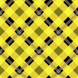 Tartan pattern. Scottish cage. Scottish yellow checkered background. Scottish plaid in yellow colors. Seamless fabric texture. Vector illustration.EPS 10 vector illustration