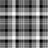 Tartan plaid black white fabric texture seamless pattern vector illustration