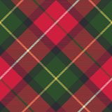 Tartan plaid diagonal seamless fabric texture. Vector illustration Stock Photography