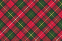 Tartan plaid diagonal seamless fabric texture. Vector illustration Stock Photos