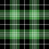Tartan plaid. Pattern Scottish cage. Tartan plaid. Scottish pattern in black, white and green cage. Scottish cage. Traditional Scottish checkered background stock illustration