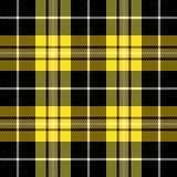 Tartan plaid. Pattern Scottish cage. Tartan plaid. Scottish pattern in black, white and yellow cage. Scottish cage. Traditional Scottish checkered background royalty free illustration