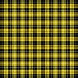 Tartan plaid. Pattern Scottish cage. Tartan plaid. Scottish pattern in black, white and yellow cage. Scottish cage. Traditional Scottish checkered background vector illustration
