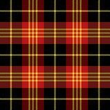 Tartan plaid. Pattern Scottish cage. Tartan plaid. Scottish pattern in black, white and red cage. Scottish cage. Traditional Scottish checkered background stock illustration
