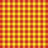 Tartan plaid. Pattern Scottish cage. Tartan plaid. Scottish pattern in red and yellow cage. Scottish cage. Traditional Scottish checkered background. Seamless royalty free illustration