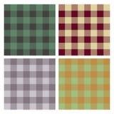 Tartan, plaid pattern, seamless ,set Royalty Free Stock Photo