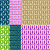 Tartan or plaid pattern set. Seamless tartan texture. Vector tartan background collection.. Royalty Free Stock Images
