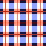 Tartan plaid seamless pattern. Checkered tartan vector background. Red and blue checkered geometric pattern Royalty Free Stock Photos