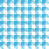Tartan plaid seamless pattern. Kitchen checkered blue tablecloth fabric background Royalty Free Illustration