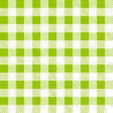 Tartan plaid seamless pattern. Kitchen green checkered tablecloth fabric background Stock Illustration