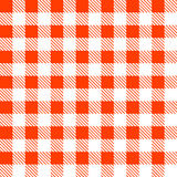 Tartan plaid seamless pattern. Kitchen red checkered tablecloth fabric background Vector Illustration