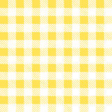 Tartan plaid seamless pattern. Kitchen yellow checkered tablecloth fabric background Royalty Free Illustration