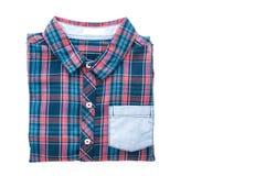 Tartan or Plaid shirt. Isolated on white background Stock Photography