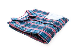 Tartan or Plaid shirt. Isolated on white background Royalty Free Stock Photography