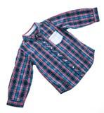 Tartan or Plaid shirt. Isolated on white background Stock Photos