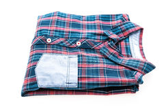 Tartan or Plaid shirt. Isolated on white background Royalty Free Stock Images