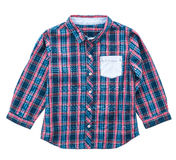 Tartan or Plaid shirt. Isolated on white background Stock Photo