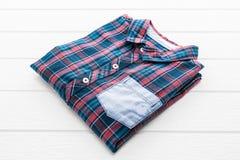 Tartan or Plaid shirt Stock Photo