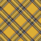 Tartan Plaid Vector Pattern Background with Fabric Texture Royalty Free Stock Image
