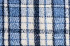 Tartan plaid wool fabric. Blue tartan plaid wool fabric Royalty Free Stock Image