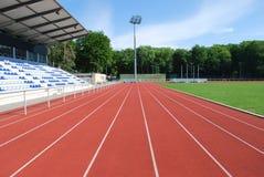 Tartan raceway in a modern stadium Royalty Free Stock Photography