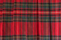 Tartan. Red Scottish Tartan Background Close-up Royalty Free Stock Images