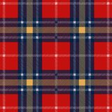 Tartan red yellow blue textile flannel warm material