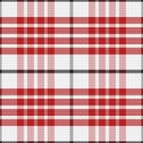 Tartan rouge sans couture d'écossais de modèle de vecteur Image libre de droits
