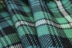 Tartan rug. Close up of a traditional Scottish tartan rug Royalty Free Stock Photo