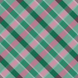 Tartan Sömlös rutig diagonal modell på en grön bakgrund Royaltyfria Foton