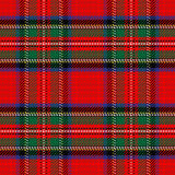 Tartan sans couture d'écossais de modèle de vecteur Photos libres de droits
