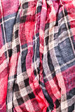 Tartan scarf Royalty Free Stock Photo