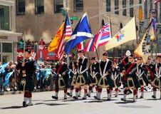 tartan scottish парада дня стоковое фото
