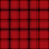 Tartan.Seamless checkered pattern.Black cage on a red background. Royalty Free Stock Photos